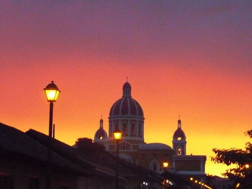 Sunset over Granada