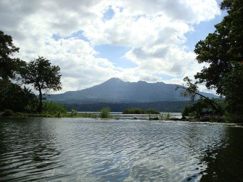 Las Isletas view to Volcán Mombacho Nicaragua